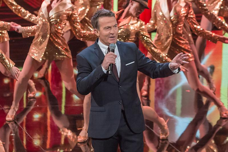 All-singing all-dancing: Bradley Walsh presents the new series of Tonight at the London Palladium: ITV