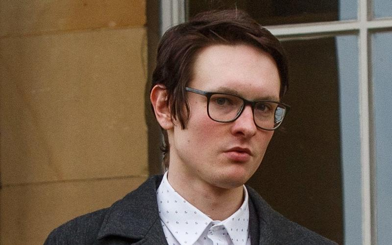 Lewis Tappenden, 24, is accused of raping the 18-year-old student after meeting her for the first time on a night out - © SWNS.com
