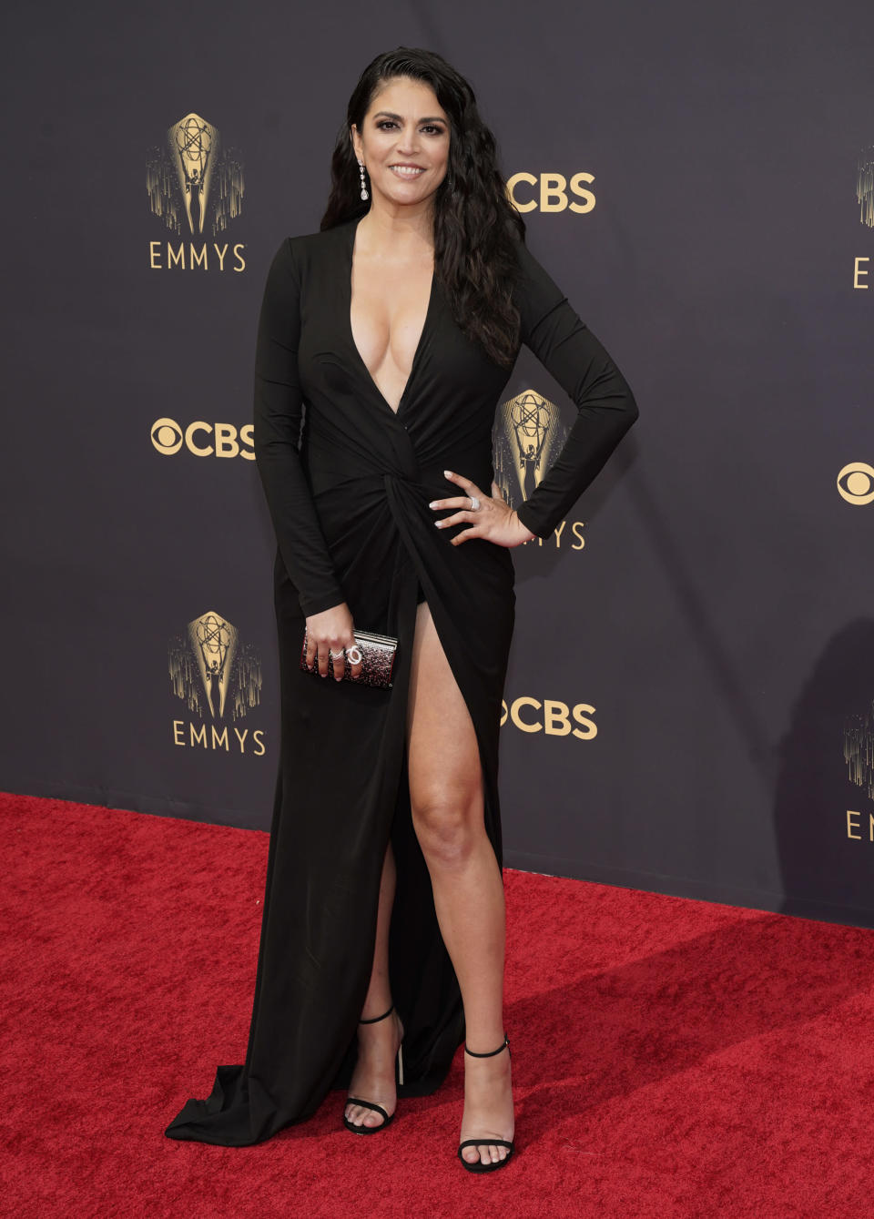 Cecily Strong arrives at the 73rd Primetime Emmy Awards on Sunday, Sept. 19, 2021, at L.A. Live in Los Angeles. (AP Photo/Chris Pizzello)