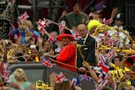<p>The year 2002 brings Queen Elizabeth's Golden Jubilee, but it's touched by sad events when Princess Margaret dies on February 9, followed by the Queen Mother on March 30.</p>