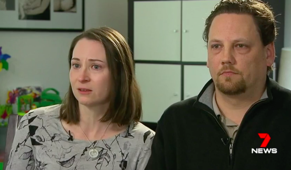 Tim and Angela Black endured a four day nightmare as their little boy fell ill. Source: 7 News