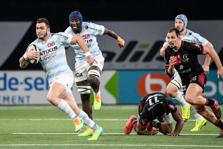 Hooker Teddy Baubigny scored a try for Racing 92 against Lyon