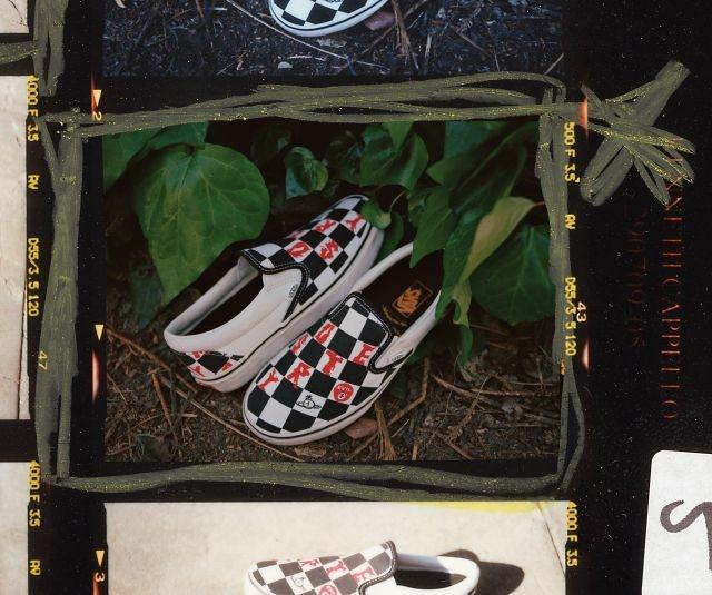 The Checkerboard Slip-On has also been reinterpreted for Vans x Vivienne Westwood Anglomania collection