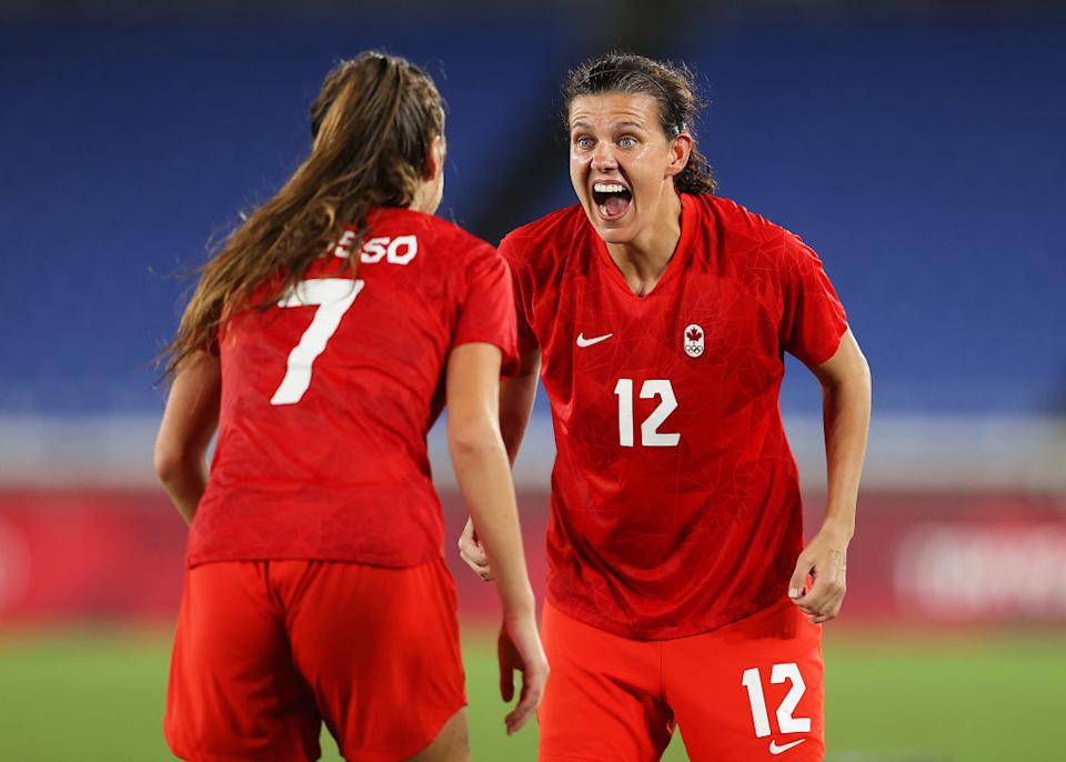 Canada has claimed Olympic gold in women's football after a dramatic penalty shootout versus Sweden. (Getty)