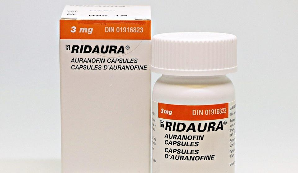 Ridaura is the brand name under which auranofin is sold. Photo: Handout
