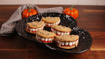 """<p>We like to think of Halloween as a month-long occasion. If there can be 25 days of Christmas, why not, right? Make your October more festive with these fun, Halloween-themed snacks. And yes, of course we have plenty of spooky <a href=""""https://www.delish.com/holiday-recipes/halloween/g151/halloween-desserts/"""" rel=""""nofollow noopener"""" target=""""_blank"""" data-ylk=""""slk:desserts"""" class=""""link rapid-noclick-resp"""">desserts</a>, <a href=""""https://www.delish.com/holiday-recipes/halloween/g2172/halloween-cake-cupcake-recipes/"""" rel=""""nofollow noopener"""" target=""""_blank"""" data-ylk=""""slk:cupcakes"""" class=""""link rapid-noclick-resp"""">cupcakes</a>, and <a href=""""https://www.delish.com/holiday-recipes/halloween/g2471/halloween-drink-recipes/"""" rel=""""nofollow noopener"""" target=""""_blank"""" data-ylk=""""slk:cocktails"""" class=""""link rapid-noclick-resp"""">cocktails</a> as well. And as long as you're in the spirit, here are some fun <a href=""""https://www.delish.com/holiday-recipes/halloween/g1813/halloween-pumpkin-carving/"""" rel=""""nofollow noopener"""" target=""""_blank"""" data-ylk=""""slk:Jack-O-Lantern ideas"""" class=""""link rapid-noclick-resp"""">Jack-O-Lantern ideas</a> to get your creative juices flowing.</p>"""