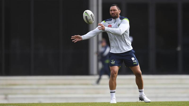 Winger Jordan Rapana is back in Canberra at the Raiders after a brief stint in Japanese rugby