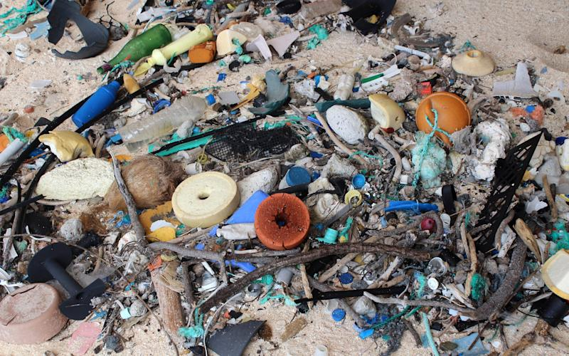 Although recycling does little to help emissions compared to cutting down on flying, it does prevent plastic ending up in the ocean - Credit: Jennifer Lavers