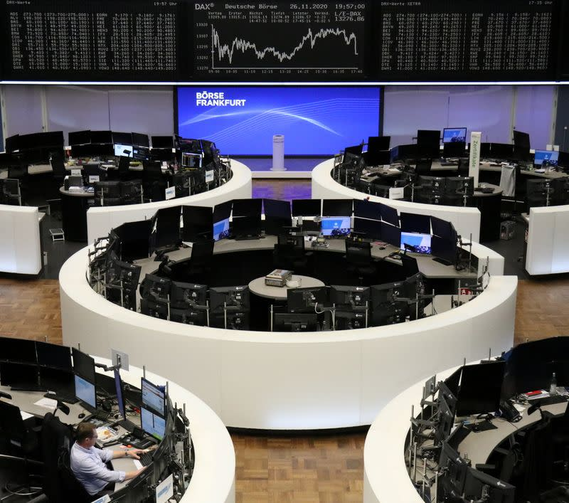 The German share price index DAX graph at the stock exchange in Frankfurt