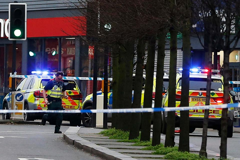 Emergency services at the scene of the Streatham terror attack: Getty Images