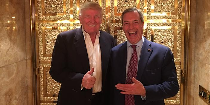 Donald Trump and Nigel Farage.