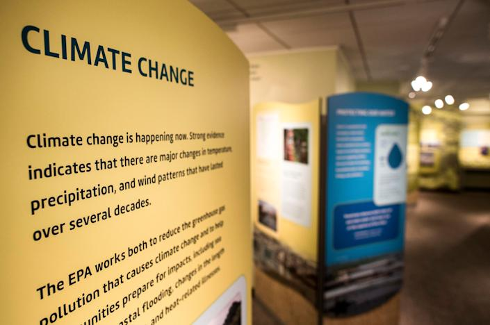 The EPA museum at the Ronald Reagan Building in Washington, addressing the work done over the decades since the agency's inception. (Photo: Melina Mara/The Washington Post via Getty Images)