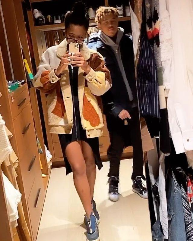 "<p>While Osaka was feeling herself in her stylish coat and zip-up sneakers, Cordae took the opportunity to crash the clip.</p> <p>""Why does he have to be like this 😩😂?"" she quipped in the caption.</p>"