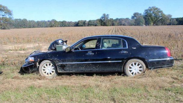 PHOTO: A 2008 black Lincoln Town Car was found in Clarendon County, South Carolina, inside an abandoned trailer believed to have been towed by an RV belonging to U.S. Marine Corps serivceman Michael Alexander Brown. (Clarendon County Sheriff's Office)