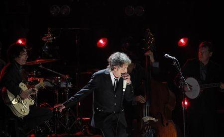 Singer Bob Dylan performs during a segment on director Martin Scorsese, recipient of the Music + Film Award, at the 17th Annual Critics' Choice Movie Awards in Los Angeles January 12, 2012. REUTERS/Mario Anzuoni