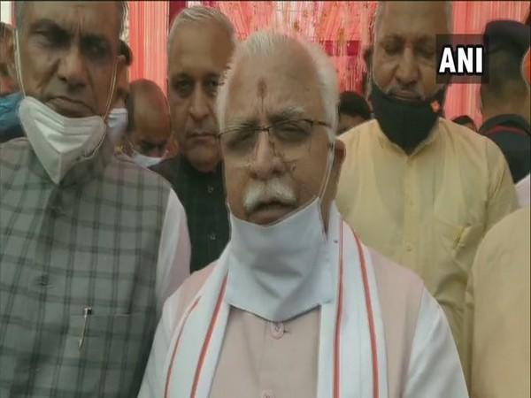 Haryana Chief Minister Manohar Lal Khattar (Photo/ANI)