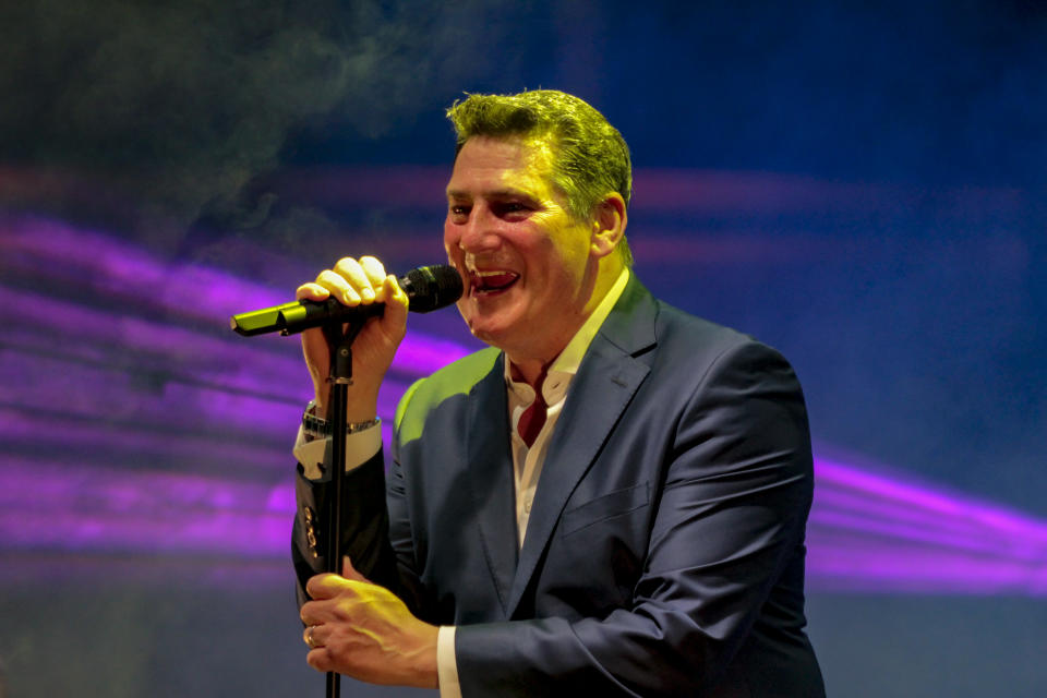 British singer Tony Hadley, former Spandau Ballet frontman, performed in concert in Cittadella (Pd) Italy, for the review Cittadella Musica Estate, on June 24, 2019. (Photo by Mimmo Lamacchia/NurPhoto via Getty Images)