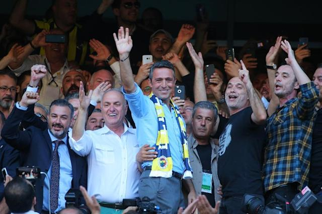 Turkish football and multi-sports giant Fenerbahce on Sunday elected a scion of one of Turkey's wealthiest industrial dynasties as its new chairman, ending the two-decade reign of longstanding supremo Aziz Yildirim (AFP Photo/STR)
