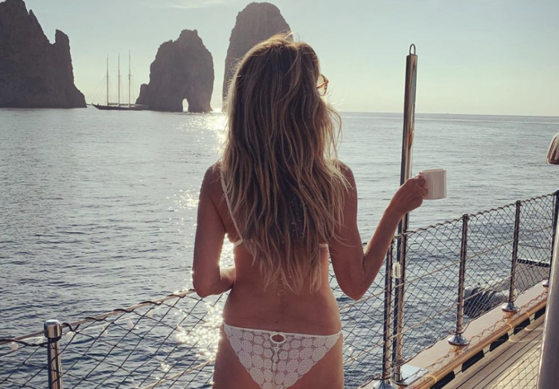 Heidi Klum, 46, faces criticism after posting a photo of her backside in a bikini. (Photo: Instagram)