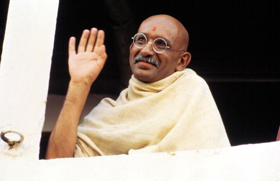 """<p>Nothing could stand in the path of Richard Attenborough's vital Mahatma Gandhi biopic — not """"E.T.,"""" not """"Tootsie,"""" not """"The Verdict"""" — in 1983. Its wins included Best Picture, Best Director, and Best Actor (Ben Kingsley). (Photo: Everett) </p>"""