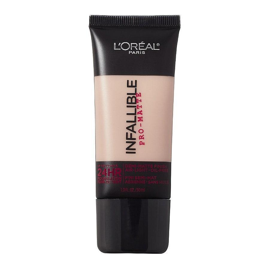 "<p>The L'Oréal Paris Infallible Pro-Matte Foundation is a great pick because it's affordable, and the coverage is incredible. Apply a pea-sized amount to your forehead, cheeks, and chin, and buff it out with your favorite sponge, brush, or even <a href=""https://www.allure.com/story/how-to-apply-foundation-with-hands?mbid=synd_yahoo_rss"" rel=""nofollow noopener"" target=""_blank"" data-ylk=""slk:your fingers"" class=""link rapid-noclick-resp"">your fingers</a>. You'll have a smooth, even base in no time. </p> <p><strong>$13</strong> (<a href=""https://shop-links.co/1726007711592607975"" rel=""nofollow noopener"" target=""_blank"" data-ylk=""slk:Shop Now"" class=""link rapid-noclick-resp"">Shop Now</a>)</p>"