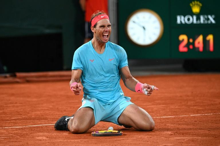 Paris return? Rafael Nadal celebrates winning the French Open at Roland Garros earlier this month