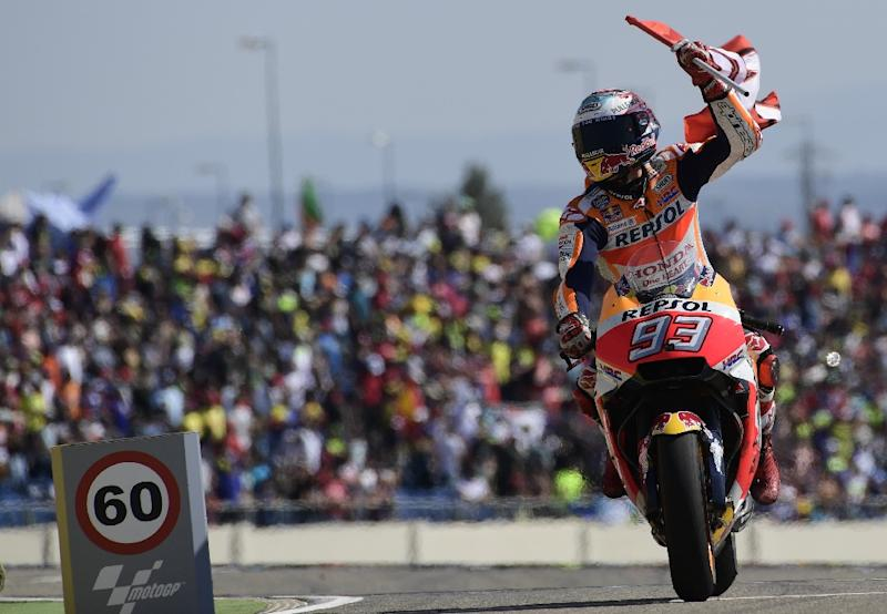 Marquez wins Aragon MotoGP, Rossi 5th on return from injury