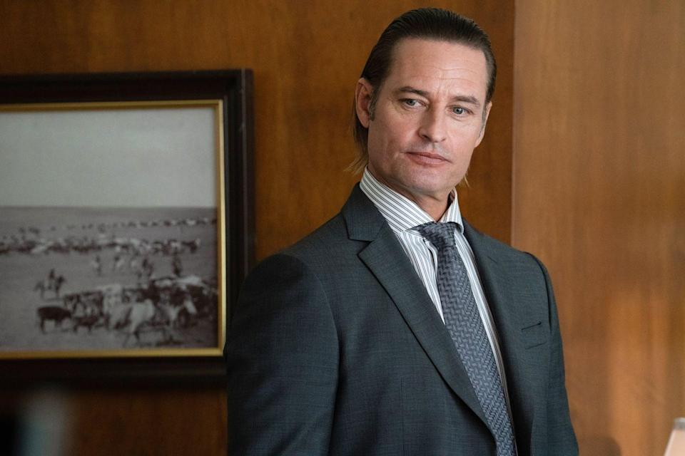 <p>Another new character to the series, Josh stars a Roarke Morris. He is a ruthless criminal turned hedge fund manager and one of the Duttons' greatest enemies.</p><p>Anyone who watched <em>Lost</em> will remember Josh from his role as Sawyer.</p>