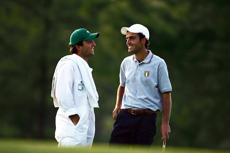 Francesco caddied for his older brother Edoardo during the 2006 Masters.