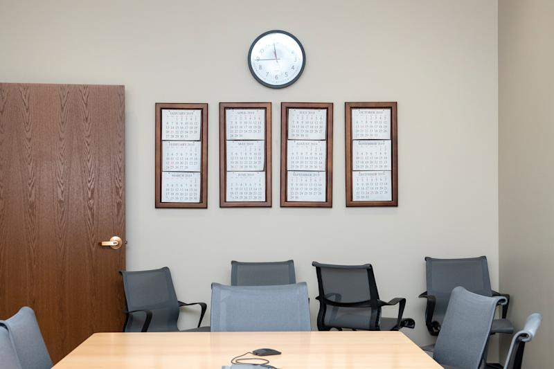 The room in which Jennie was notified that her husband was dead, at the Utah National Guard headquarters.   Peter van Agtmael—Magnum Photos for TIME