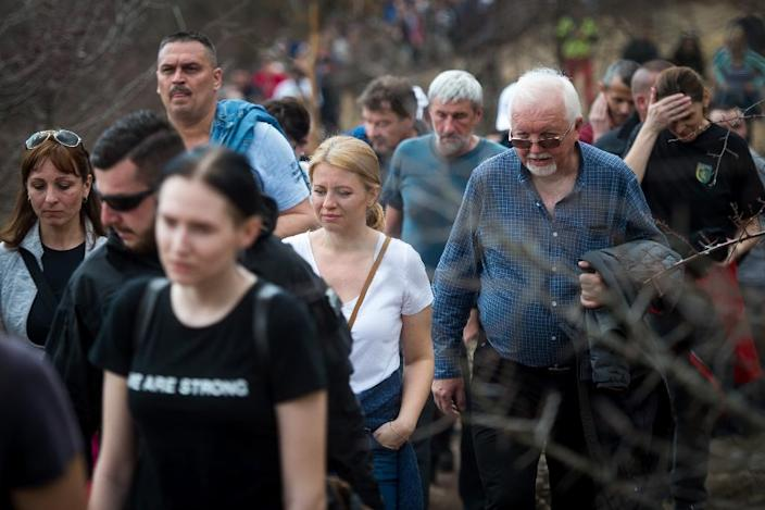 Caputova recently joined supporters in a hike up Sitno hill, near Banska Stiavnica (AFP Photo/VLADIMIR SIMICEK)