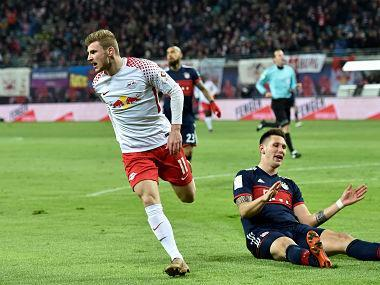 It was a historic night for sixth-placed RB Leipzig as they beat Bayern Munich for the first time at the fifth attempt.