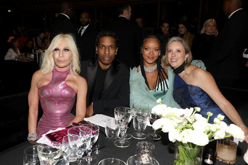 Donatella Versace, Asap Rocky, Halima Aden, Rihanna and Stephanie Phair during The Fashion Awards 2019 held at Royal Albert Hall (Getty Images)