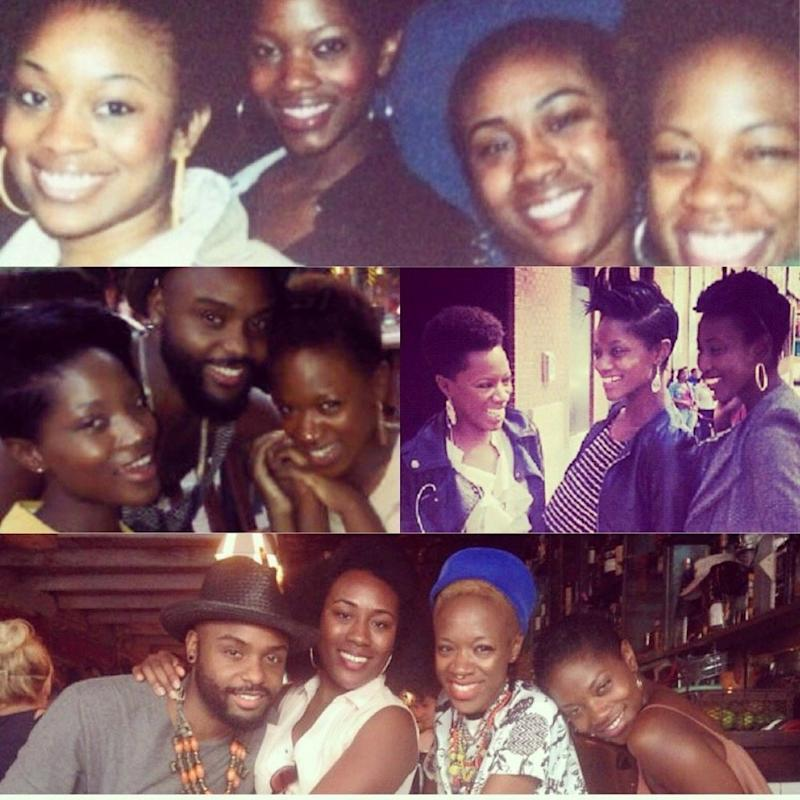 """Brianna with friends from Clarke Atlanta University. She described them as her """"greatest support."""" (Brianna)"""