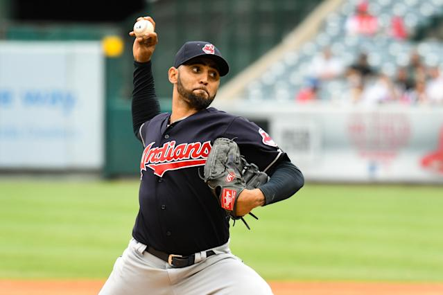 "We are nearing the return of <a class=""link rapid-noclick-resp"" href=""/mlb/players/9456/"" data-ylk=""slk:Danny Salazar"">Danny Salazar</a>. (Photo by Brian Rothmuller/Icon Sportswire via Getty Images)"