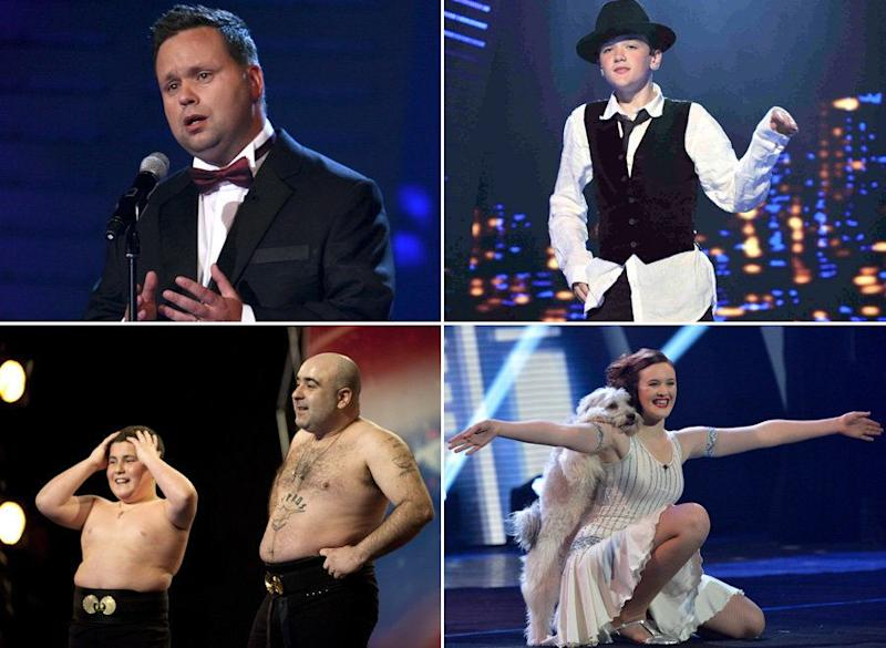 Paul Potts, George Sampson, Stavros Flatley and Ashleigh and Pudsey are all back for BGT: The Champions (Photo: ITV)