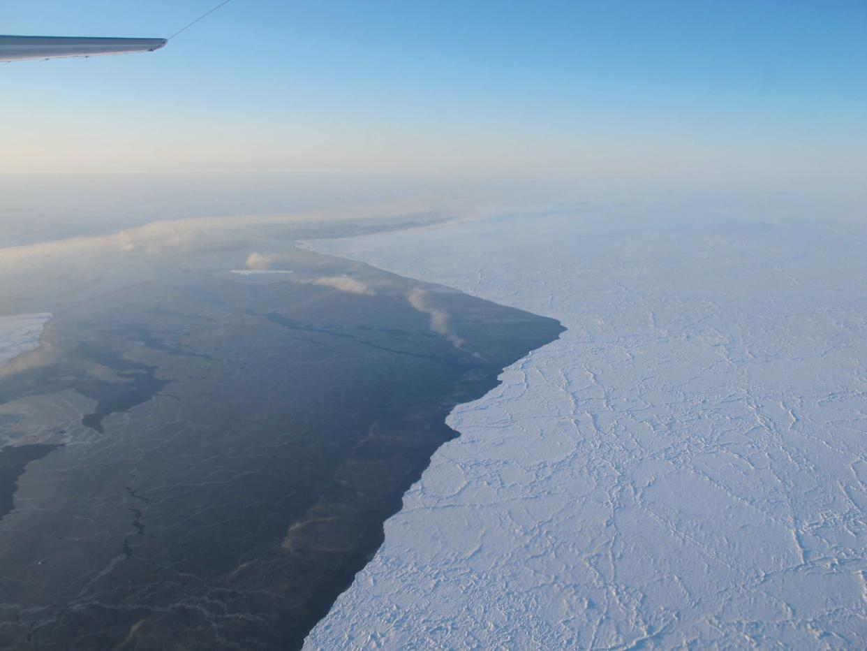 The <span>dramatic and rapid loss of sea ice in recent years</span> has consequences beyond the Arctic. Scientists have found the melting shifts the position of the Jet Stream, bringing cold Arctic air further south and increasing the odds of intense snow storms and extreme spring weather.