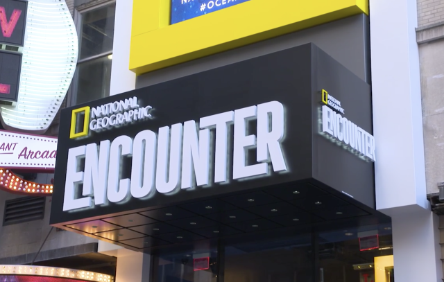 New at Times Square: National Geographic Encounter: Ocean Odyssey.