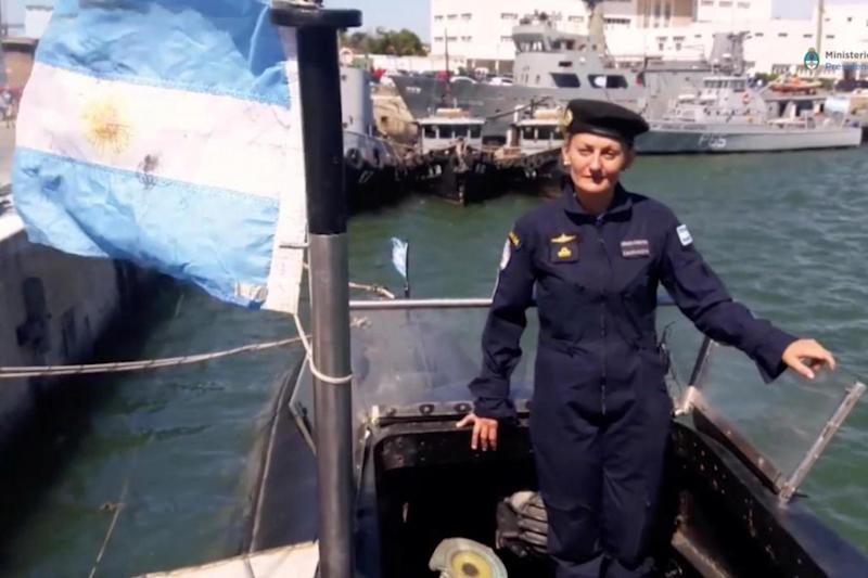 Missing: Crew member Maria Krawczyk, a submarine officer on board the Argentine navy submarine ARA San Juan (REUTERS)