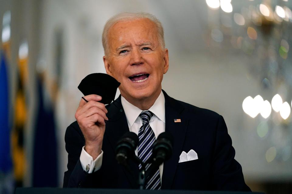 <p>Brote de virus Biden</p> (Copyright 2021 The Associated Press. All rights reserved)