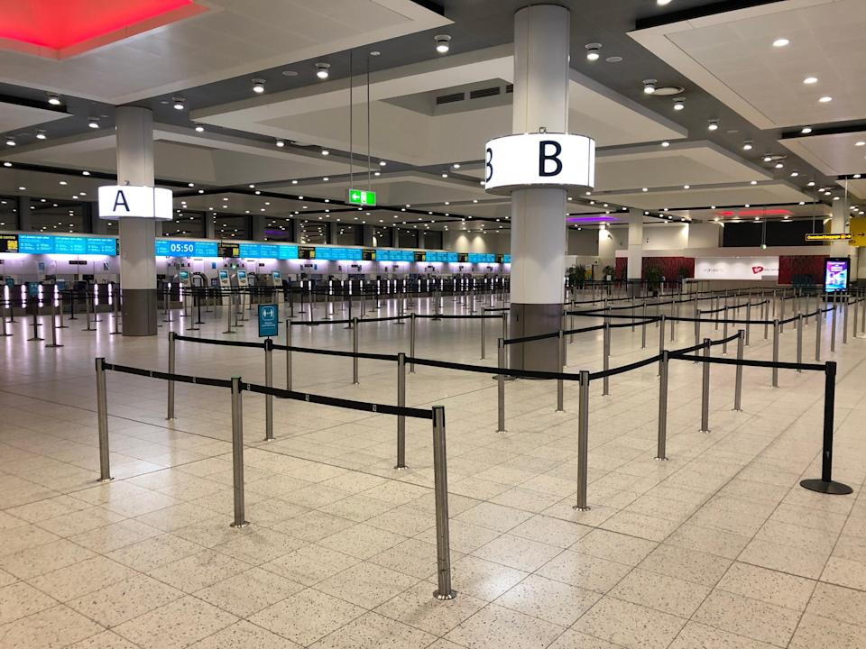 Empty quarter: Gatwick Airport North Terminal, from which no more than 12 flights are set to depart today (Simon Calder)
