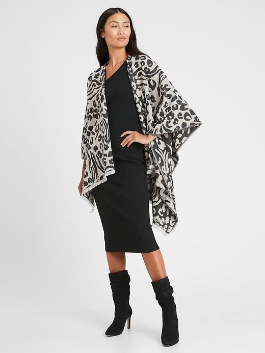 Banana Republic Reversible Leopard Poncho
