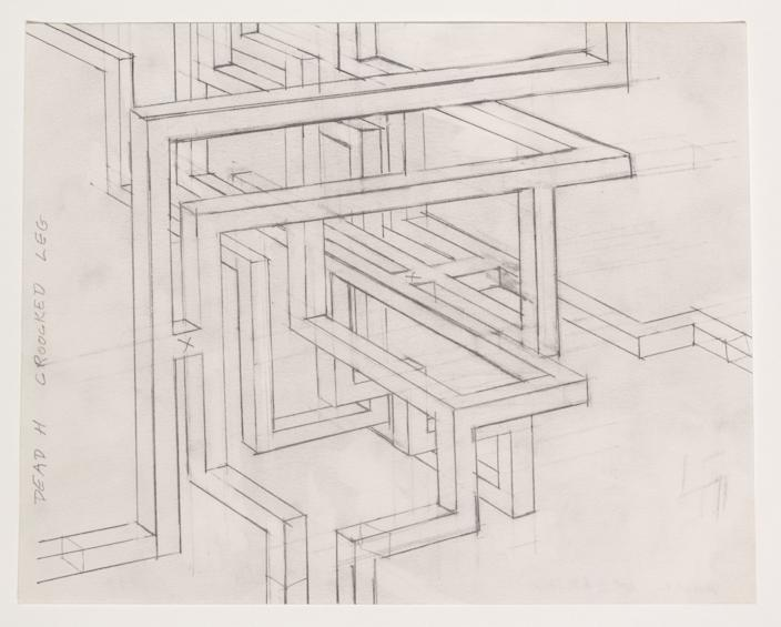 """Dead H Crooked Leg Maze,"" 1979, by Paul McCarthy — an early architectonic drawing. <span class=""copyright"">(Fredrik Nilsen Studio)</span>"