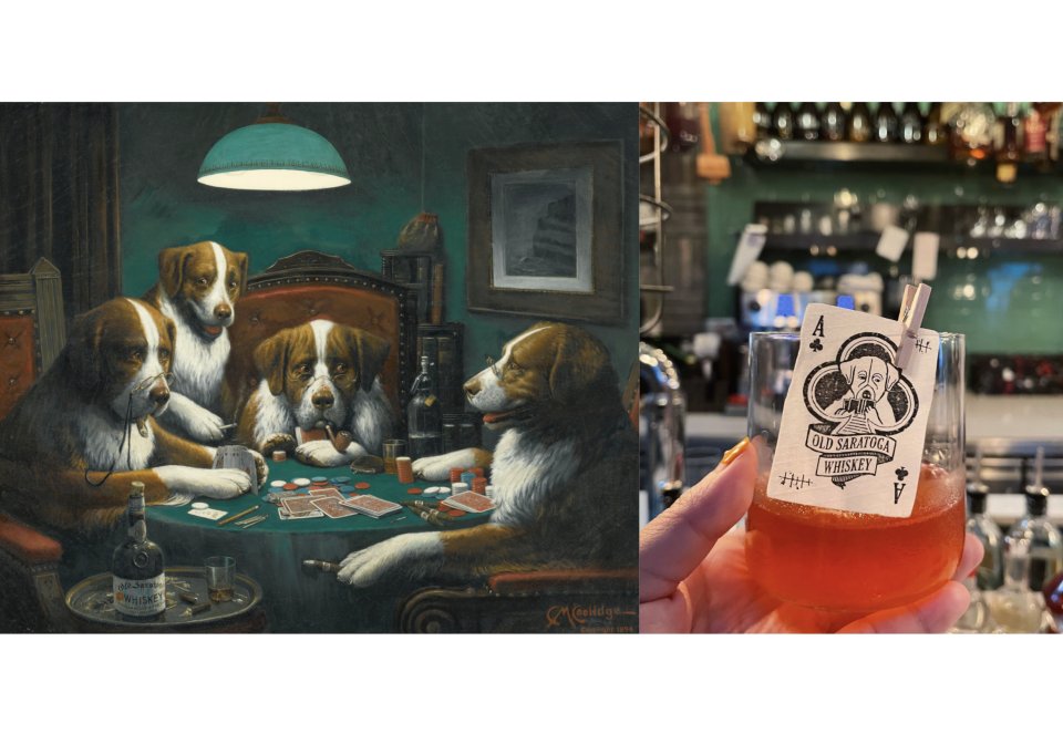 Left: Cassius Marcellus Coolidge, Poker Game, 1894. Right: Tippling Club, Poker Game ($26).