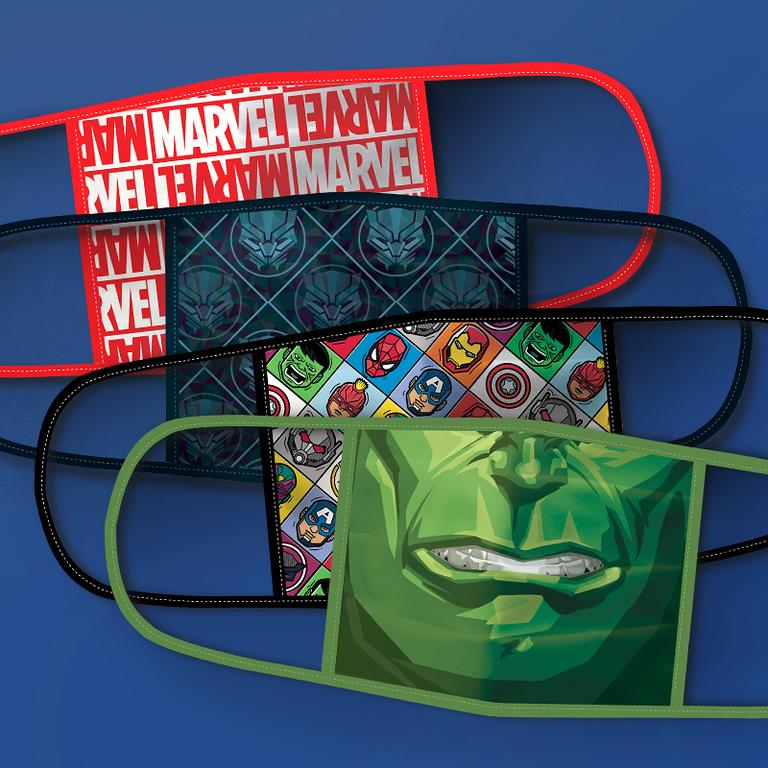 Marvel Cloth Face Masks 4-Pack Set (Photo: Disney Parks, Experiences and Products)