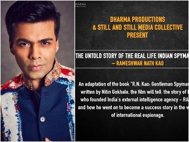 Karan Johar announces Dharma Productions' next film, on Indian spymaster and R&AW founder RN Kao