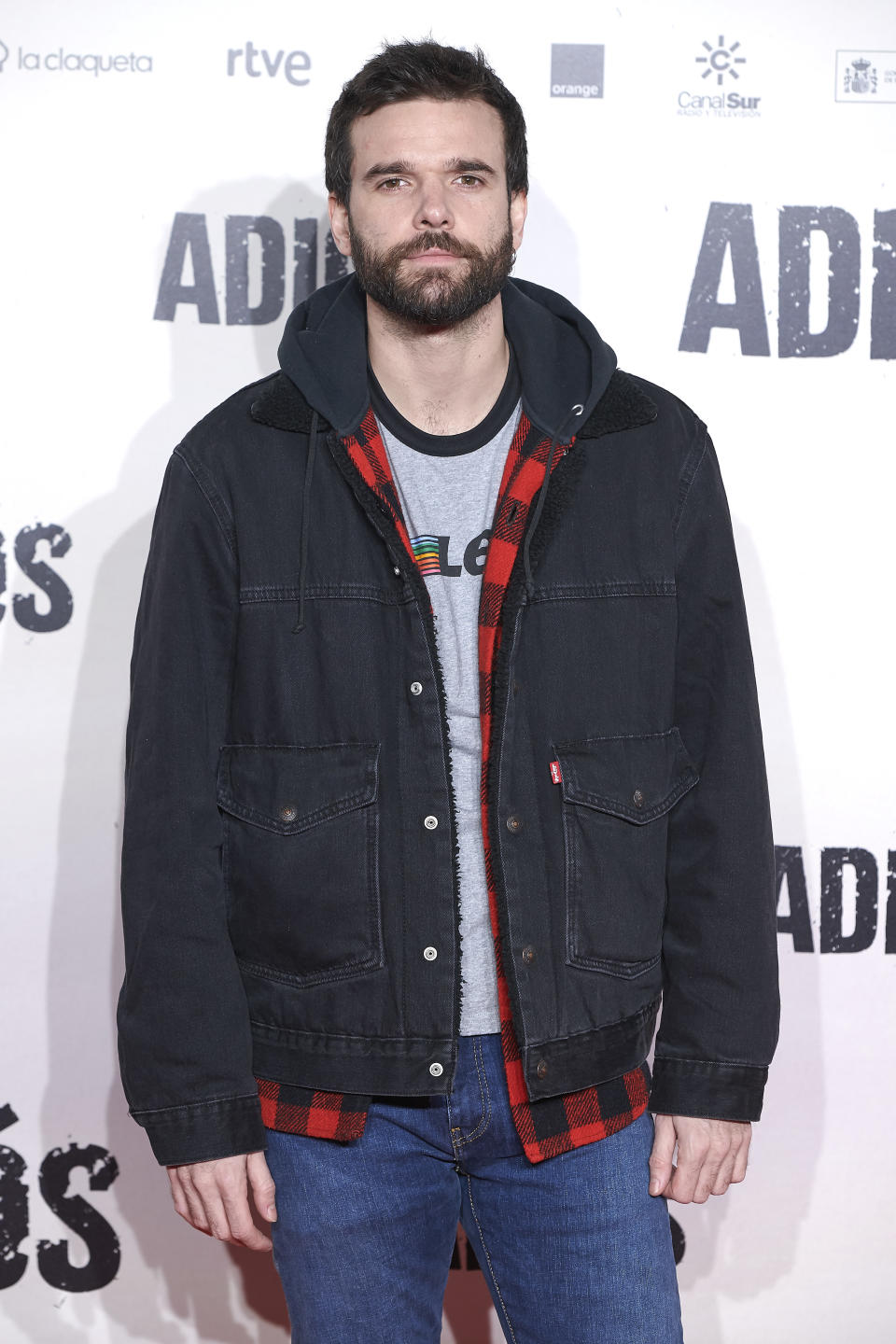 Jon Arias attends the 'Adios' premiere at 'Capitol' cinema in Madrid, Spain on Nov 19, 2019 (Photo by Carlos Dafonte/NurPhoto via Getty Images)