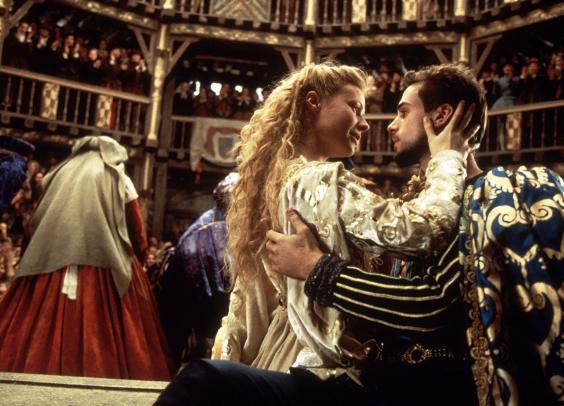 Paltrow and Joseph Fiennes in 'Shakespeare in Love' (Laurie Sparham)