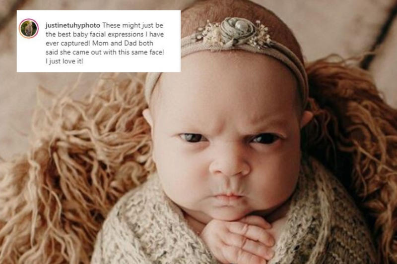 Infant Protests Her Baby Photoshoot with a 'Grumpy Face' That's Breaking the Internet