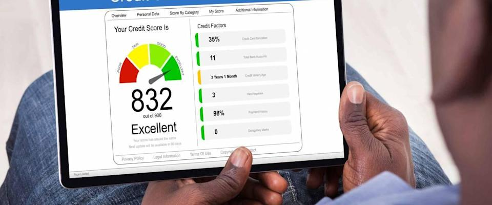Online Credit Score Check Using Tablet Computer